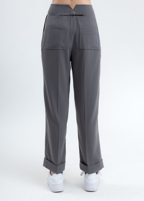 MOON CHOI Archive Back Pocket Trousers - Taupe