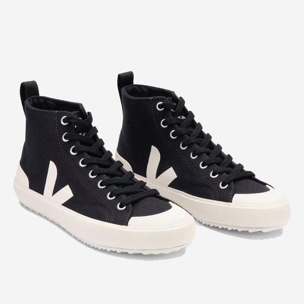 VEJA Nova High Top Canvas Sneakers - Black Pierre