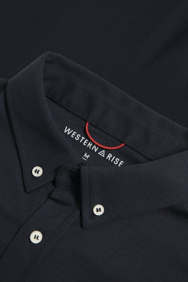 Western Rise Limitless Merino Button-Down Shirt - Navy