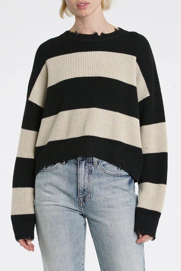 Pistola Eva Sweater - Black/Oatmeal Stripe