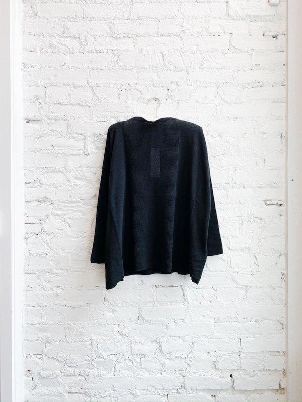 Pas de Calais Crew Pullover Sweater - Black