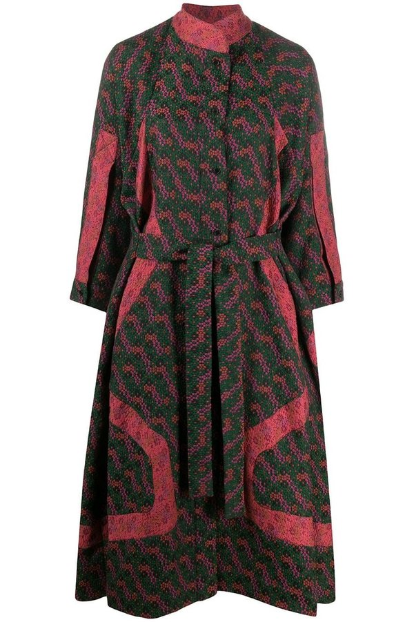Henrik Vibskov Pipe Line Dress - Green Mosaic Garden