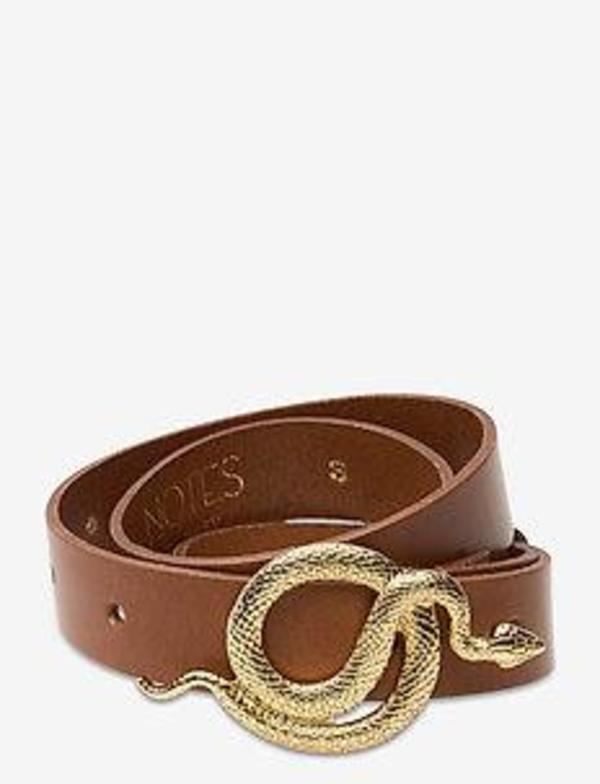 Notes du Nord Paxton Leather Belt - gold / cognac