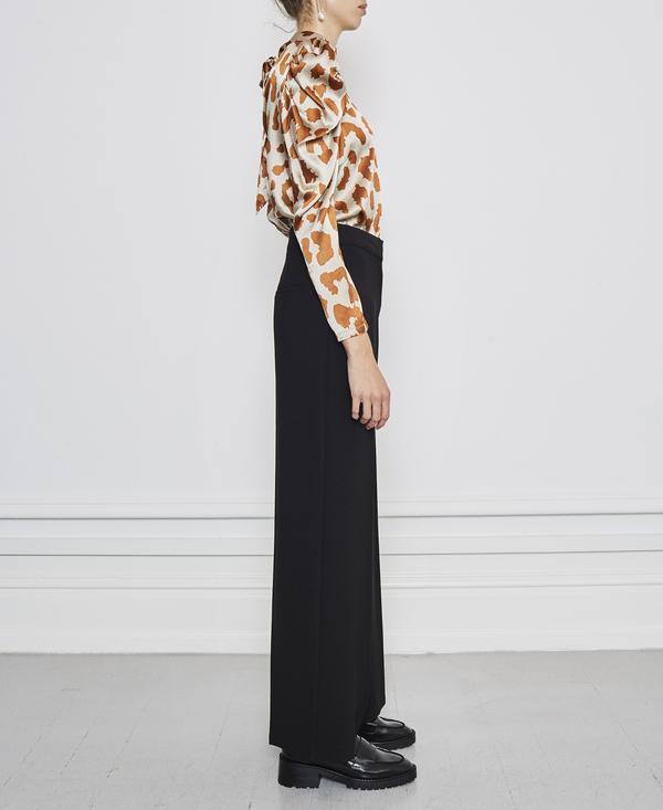 Notes du Nord Rihanna Giraffe Silk Blouse