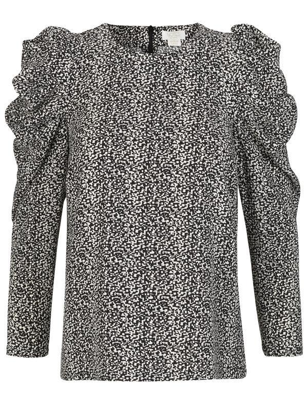 Notes du Nord River Recycled Blouse - Pixel Print