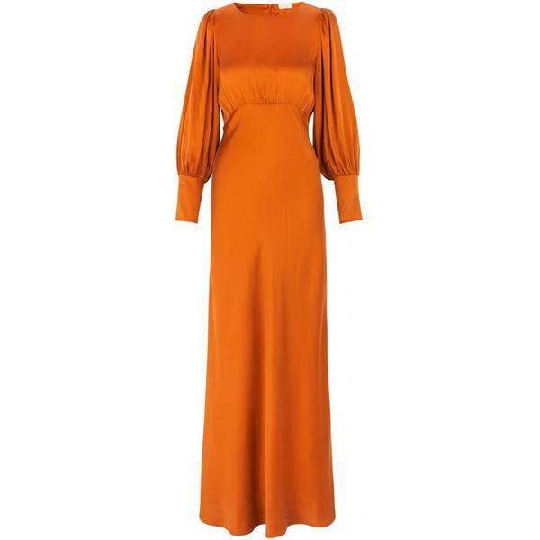 Notes du Nord Rosalia Silk Dress - Burnt Orange