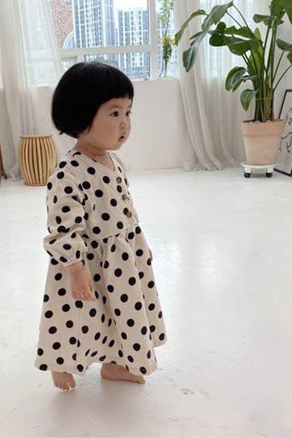 Korean Collective DOT DRESS (IVORY)