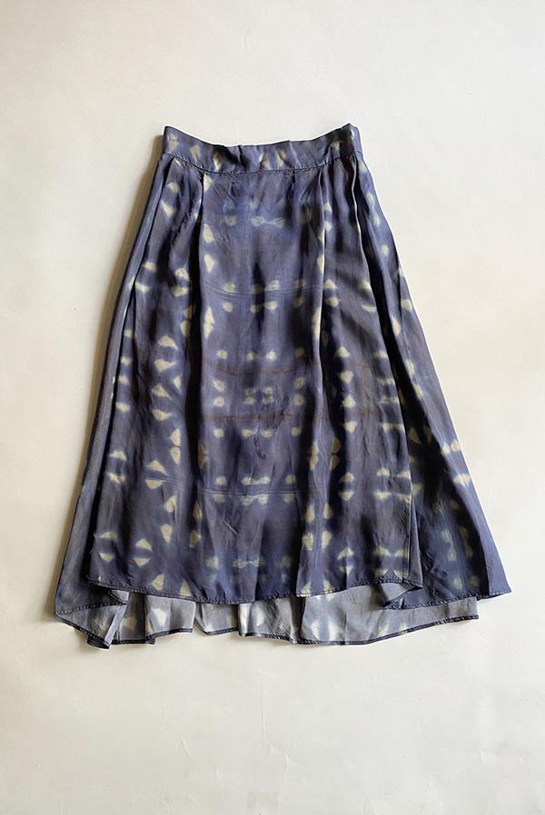 Bellerose Pacific Elastic Waist Skirt - Navy Print
