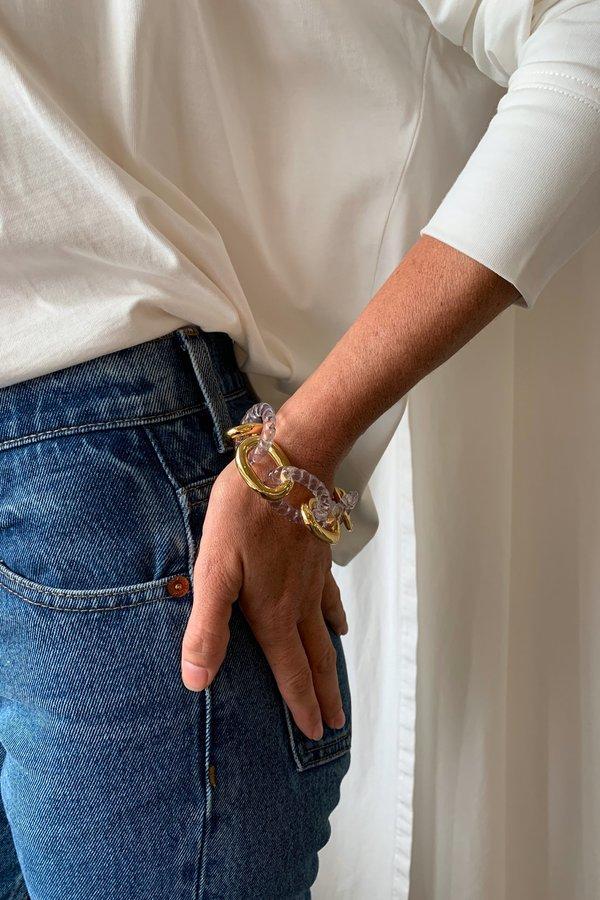 Lizzie Fortunato Mirrored Sea Bracelet - Gold Plated Brass  / Acrylic