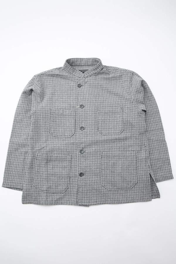 Engineered Garments Dayton Shirt in Poly Wool Herringbone - Grey