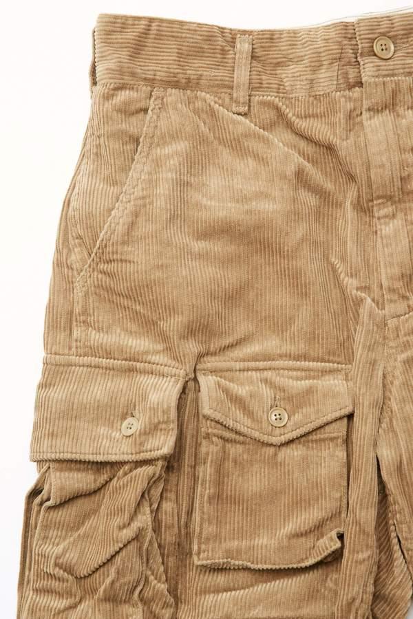 Engineered Garments FA Pant in 8W Corduroy - Khaki