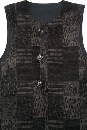 Engineered Garments Cotton Herringbone Twill Over Vest - Black