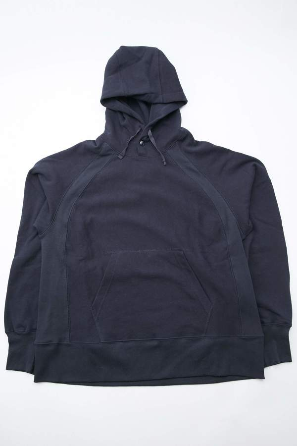 Engineered Garments Cotton Fleece Plain Raglan Hoody - Dark Navy