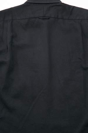 Engineered Garments  Cotton Waffle Pique Short Collar Shirt - Black