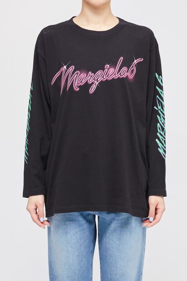 MM6 Maison Margiela 6 Neon Logo Long Sleeved T shirt