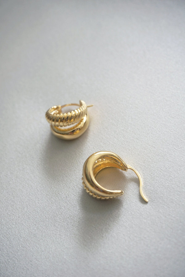 Sophie Buhai Small Double Rope Hoops - Vermeil