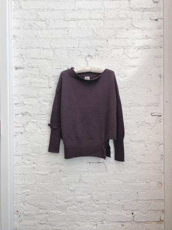 PLANET Ragged Sweater - Raisin
