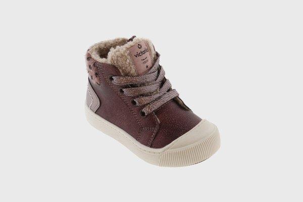 Kids Victoria Side-zip Metallic Boots - Bordeaux