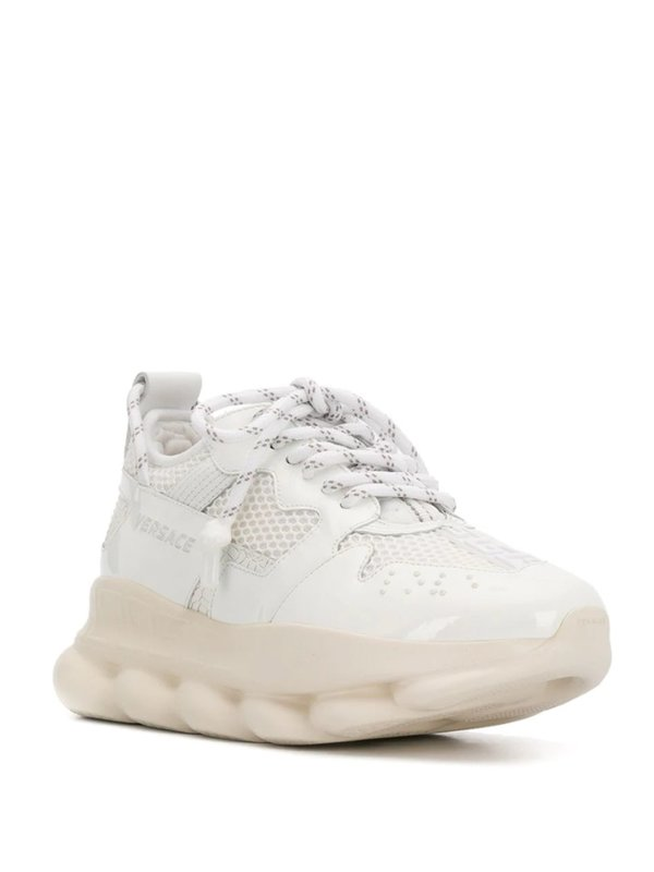 VERSACE CHAIN REACTION 2 LOW-TOP SNEAKERS - White