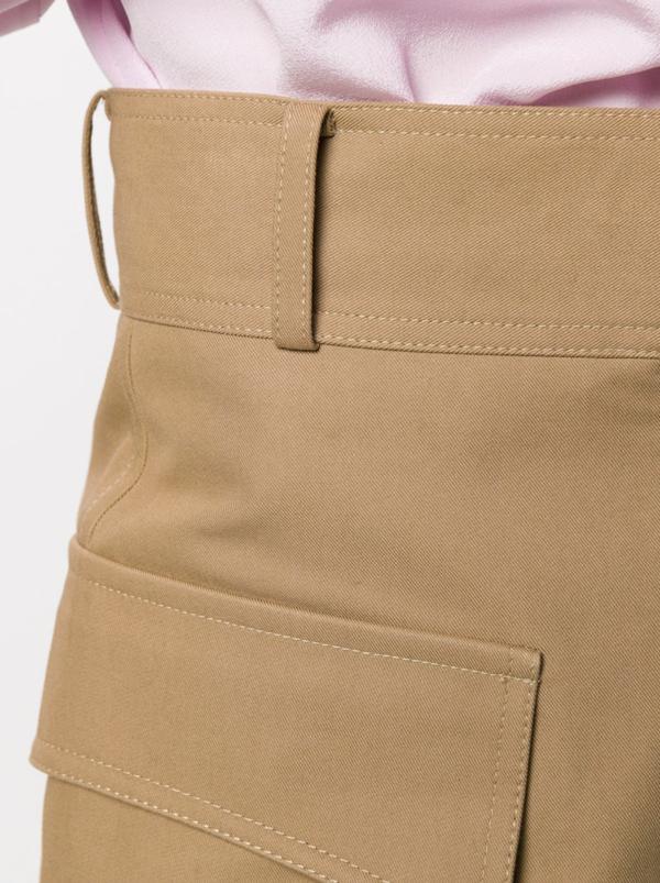 Victoria Beckham Pocket Detail High-waisted Shorts - Khaki