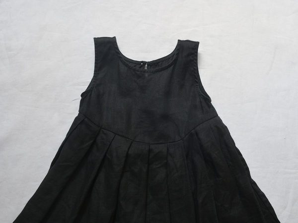 Kids Makié Lulu Linen Dress - Black