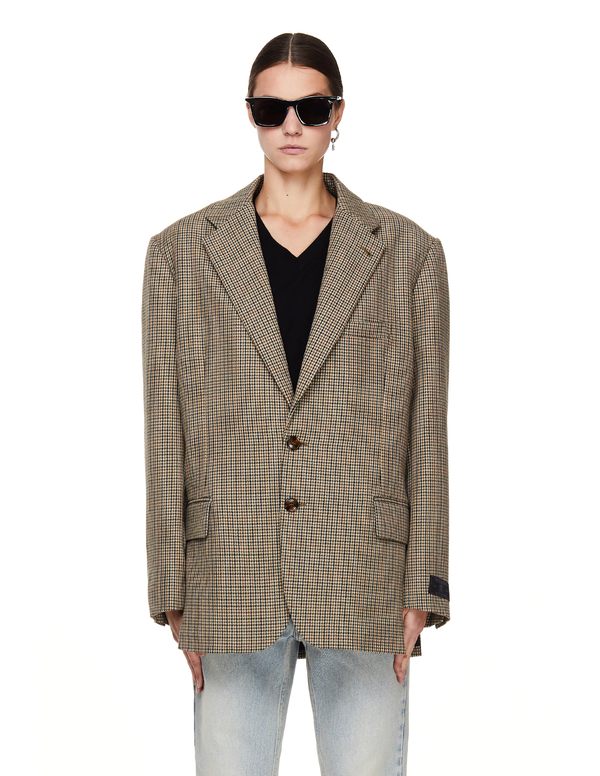 Vetements Checked Wool Jacket