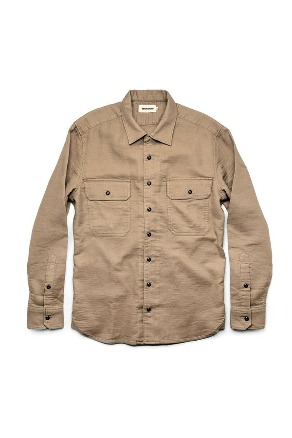 Taylor Stitch Corso Shirt - Khaki Double Cloth