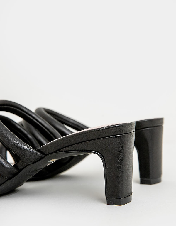 """""""INTENTIONALLY __________."""" Willow III Sandals - Black"""