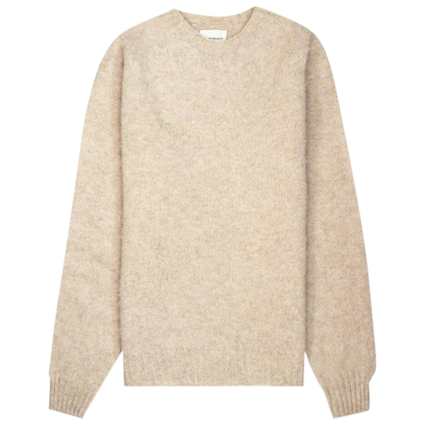 Norse Projects Birnir Brushed Lambswool  Sweater - Oatmeal