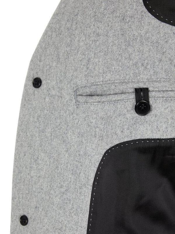 J Lindeberg Wolger Compact Melton Coat - Grey