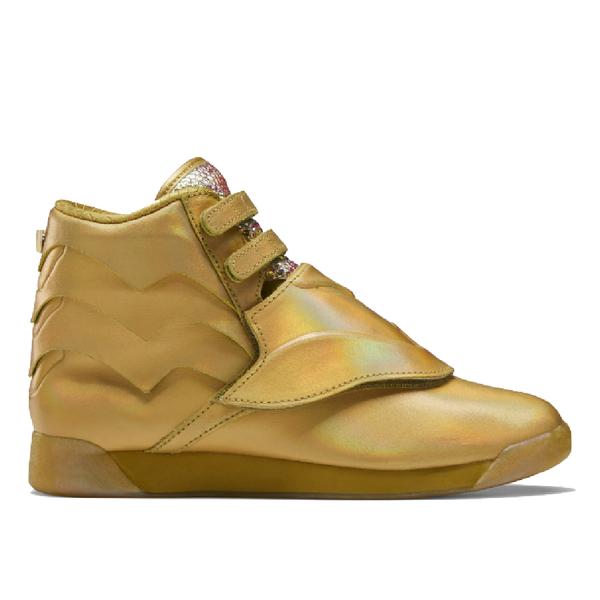 Reebok Freestyle Hi Sneakers - Gold Met/Excellent Red