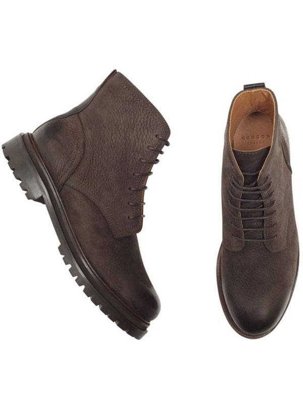 Hudson Lingshaw Nubuk Boot - Brown