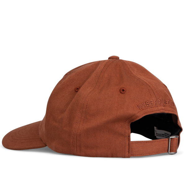 Norse Projects Twill Sports Cap - Madder Brown