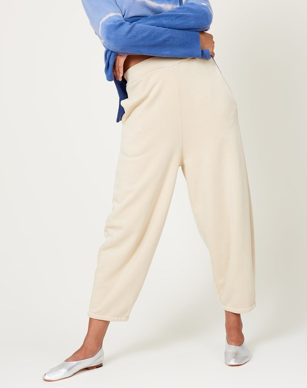Black Crane Wide Pants - Natural