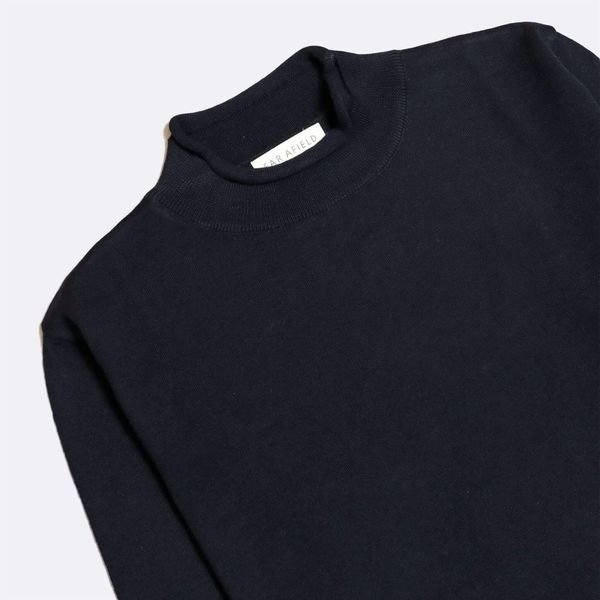 Far Afield Sergey Roll Neck Sweater - Navy