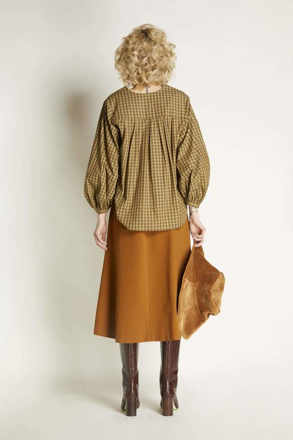Christine Alcalay A line Skirt with buttons