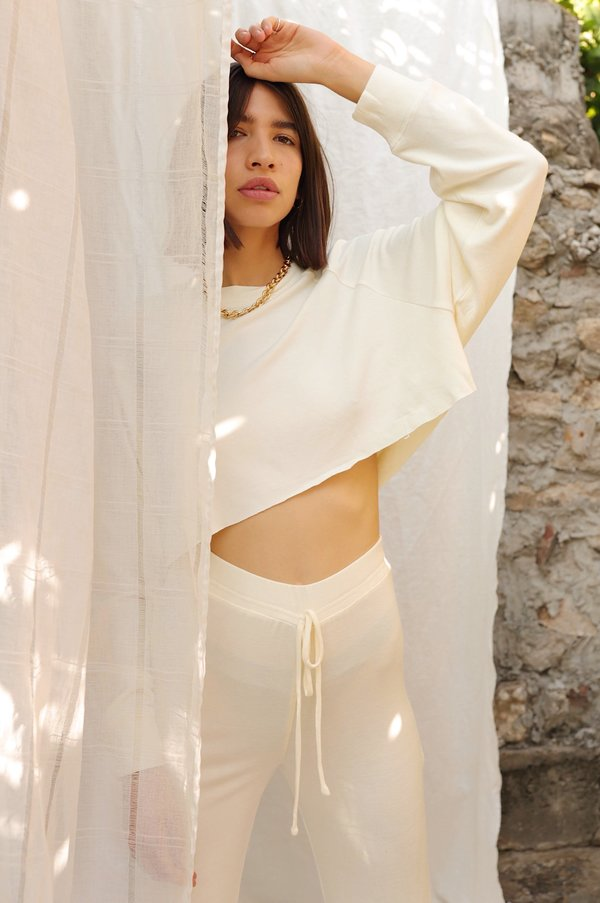 NIA Soft Raglan Pullover - Ivory