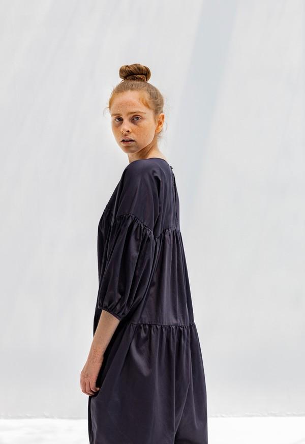Black Crane Puff Jumpsuit - Black