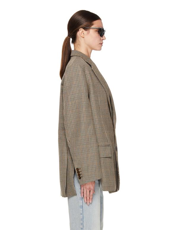 Vetements Oversize Checked Wool Jacket