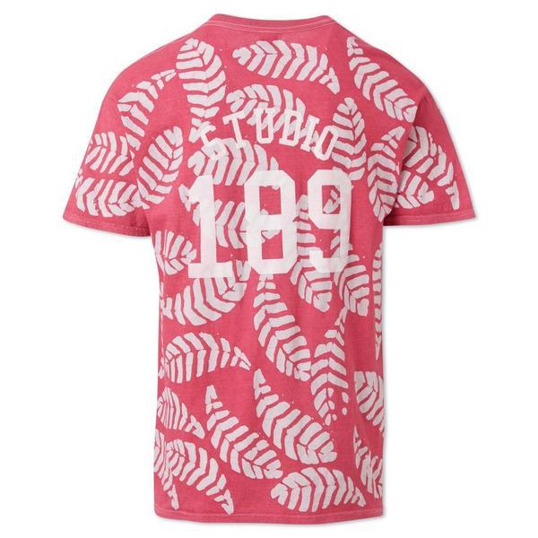 Unisex Studio One Eighty Nine Leaf Cotton Hand-Batik T-Shirt - Pink