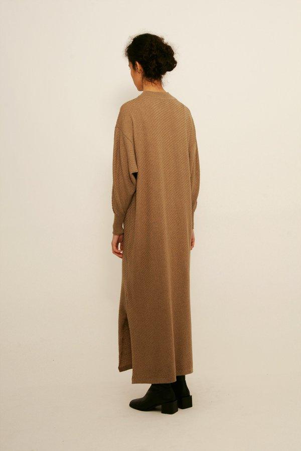 Diarte Olaya Merino Wool Dress - taupe
