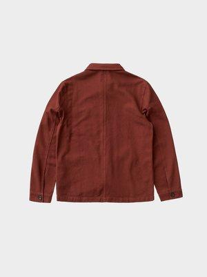 Nudie Jeans Barney Worker Jacket - Brick Red