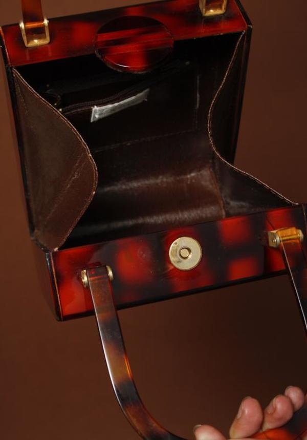 VINTAGE BOX BAG - TORTOISE