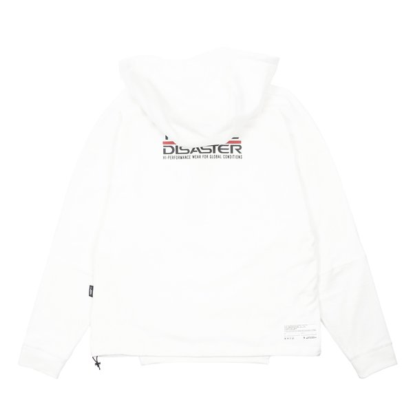 Guerrilla Group ES-TH01 ND CONTRAST PANEL HOODIE - WHITE