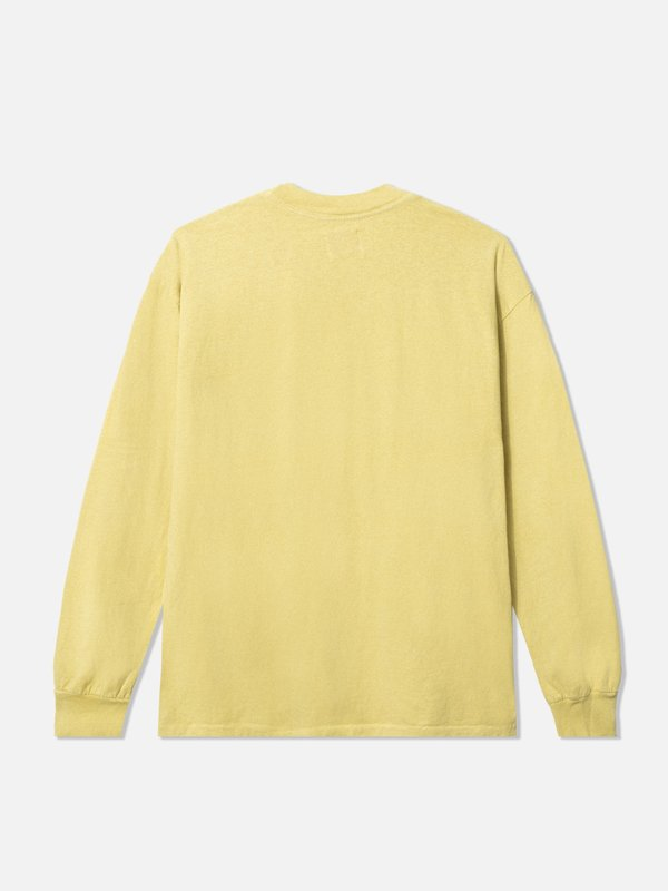 General Admission Long Sleeve Loose Knit Pocket Tee - Yellow
