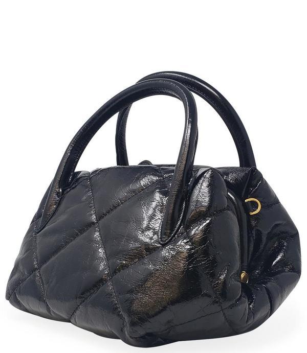 Gianni Chiarini Quilted Leather Handbag - Black