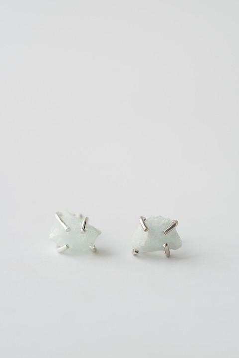 Aquamarine Prong Stud Earrings by giantLION
