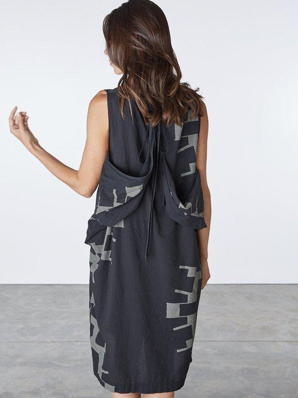 Uzi NYC Oxford Dress - Black Sun