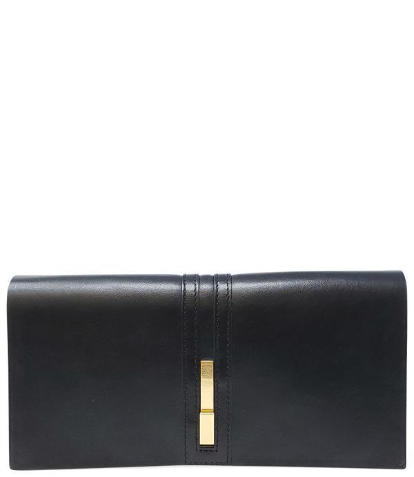 Gianni Chiarini Foldover Clutch Bag - Black
