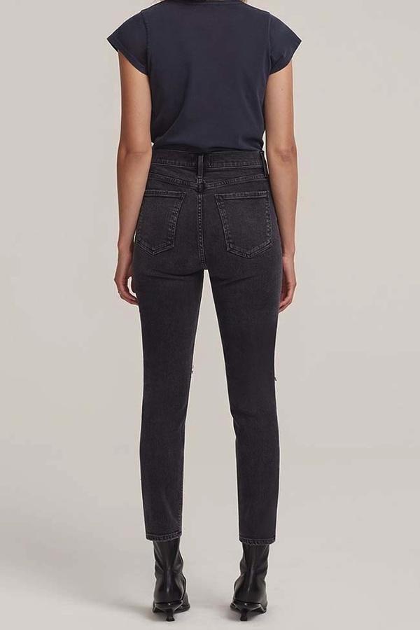 Agolde Nico High Rise Slim Fit Jean - Cassette